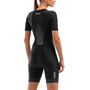2XU Perform Combinaison à manches courtes zippée Femme, noir