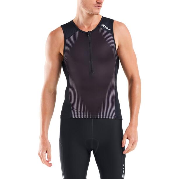 2XU Perform Débardeur de triathlon Homme, black/shadow