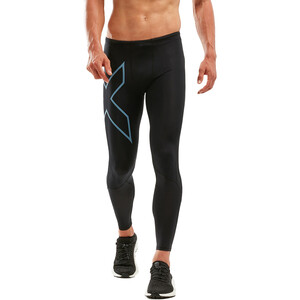 2XU Run Dash Compression Tights Herren black/denim reflective black/denim reflective