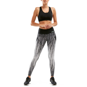 2XU Mid Rise Splice Compression Tights Damen digital waterfall/mint digital waterfall/mint
