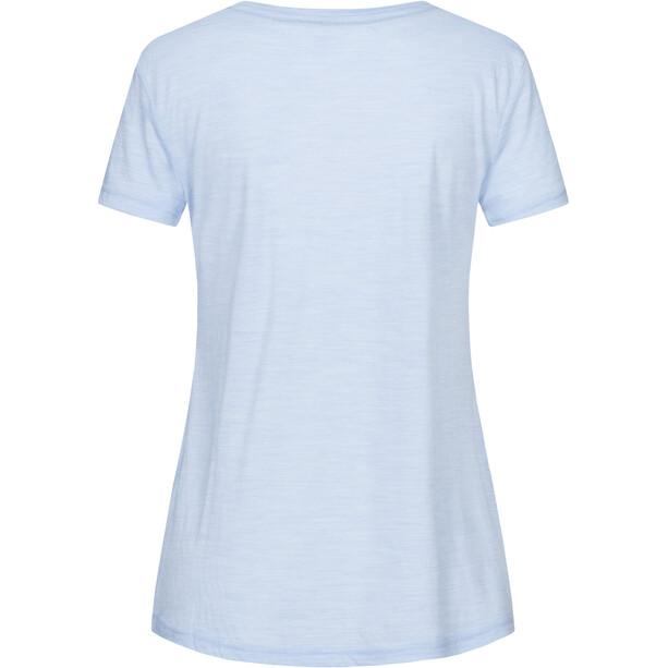 super.natural Travel T-Shirt Damen skyway melange