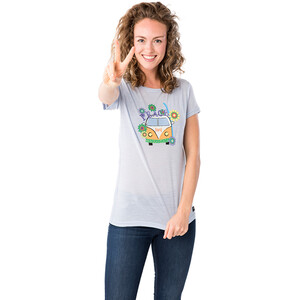 super.natural Printed T-Shirt Damen skyway/happy hippie skyway/happy hippie
