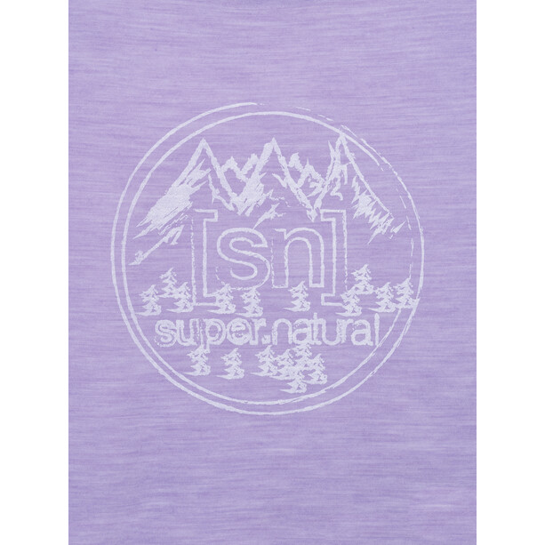 super.natural Printed T-Shirt Damen wisteria melange/fresh white backdrop