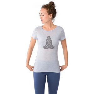super.natural Printed T-Shirt Damen skyway melange/silver grey calm down skyway melange/silver grey calm down