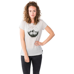 super.natural Printed T-Shirt Damen light grey melange/millitaryunconventional light grey melange/millitaryunconventional