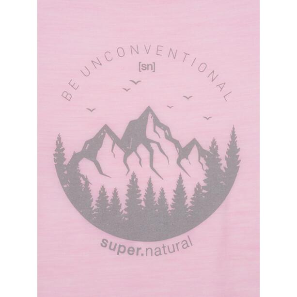 super.natural Printed T-Shirt Damen fairy tale melange/light grey unconventional