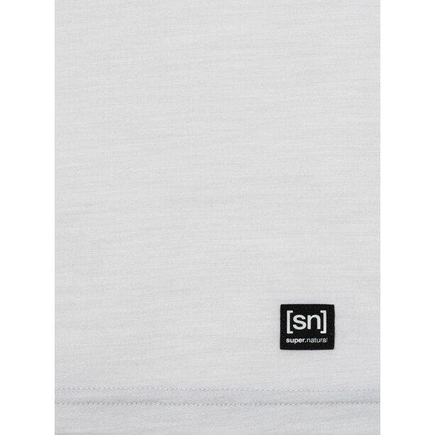 super.natural Printed T-Shirt Damen light grey melange/millitarycamping jar