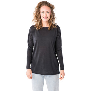 super.natural Travel Langarmshirt Damen jet black melange jet black melange