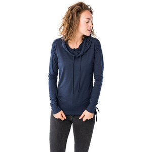 super.natural Tencel Funnel Hoodie Damen blue iris blue iris