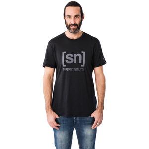super.natural Logo T-Shirt Herren jet black melange/vapor grey logo jet black melange/vapor grey logo