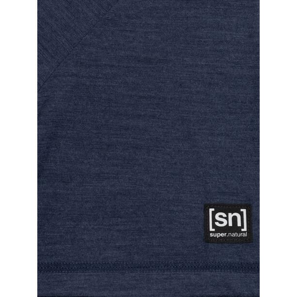 super.natural Logo T-Shirt Herren blue iris melange/jet black logo