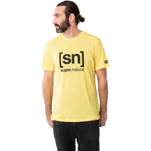 super.natural Logo T-Shirt Herren aurora melange/jet black logo aurora melange/jet black logo