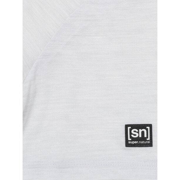 super.natural Logo T-Shirt Herren light grey melange/silver grey logo