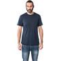 super.natural Essential Kurzarm Shirt Herren blue iris melange