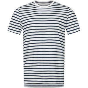 super.natural Comfort Print T-Shirt Herren fresh white/navy blazer fine stripe print fresh white/navy blazer fine stripe print