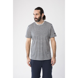 super.natural Comfort Print T-Shirt Herren ash melange/navy blazer fine stripe print ash melange/navy blazer fine stripe print