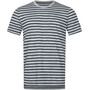 ash melange/navy blazer fine stripe print