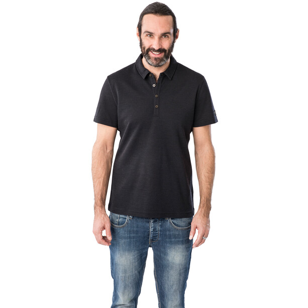 super.natural Wayfarer Poloshirt Herren jet black