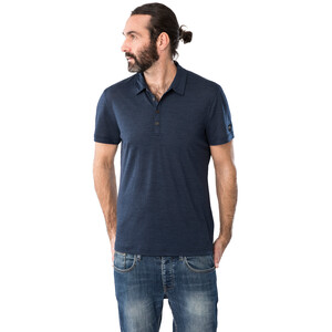 super.natural Everyday Poloshirt Herren blue iris melange blue iris melange