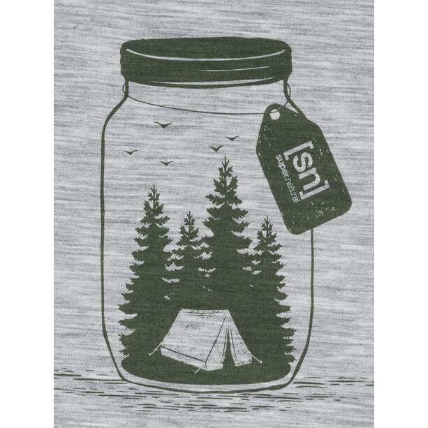 super.natural Graphic T-Shirt Herren silver grey melange/light grey be unconventional