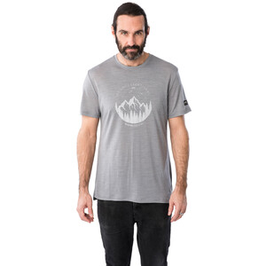 super.natural Graphic Tee Men, silver grey melange/light grey be unconventional silver grey melange/light grey be unconventional