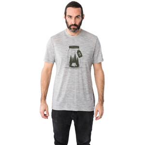 super.natural Graphic T-Shirt Herren silver grey melange/light grey be unconventional silver grey melange/light grey be unconventional