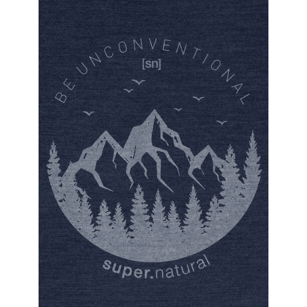 super.natural Graphic T-Shirt Herren blue iris melange/light grey be unconventional