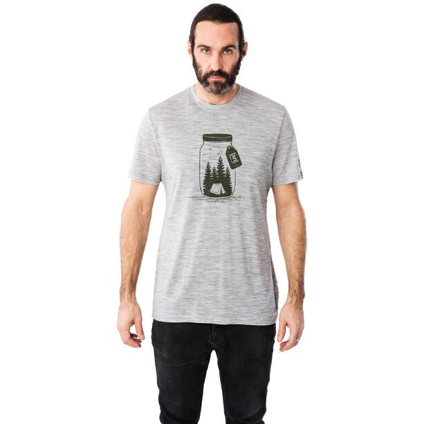 super.natural Graphic T-Shirt Herren ash melange/millitary go camping