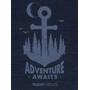 super.natural Graphic T-Shirt Herren blue iris melange/skyway adventure awaits