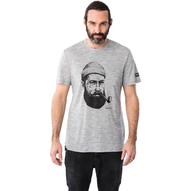 super.natural Graphic T-Shirt Herren ash melange/jet black sailor