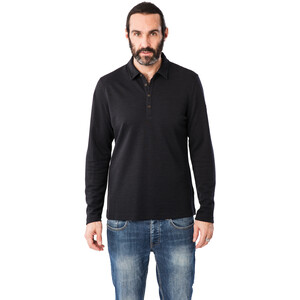 super.natural Wayfarer Langarm Poloshirt Herren jet black jet black