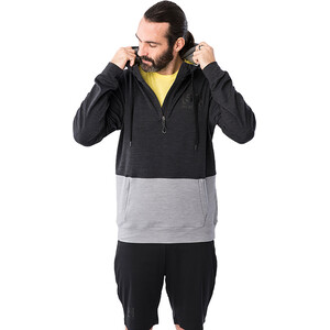 super.natural Movement Half Zip Hoodie Herren jet black melange/silver grey melange jet black melange/silver grey melange