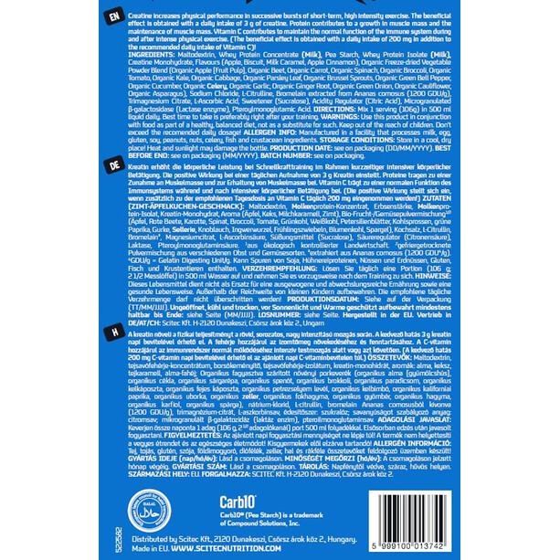 SCITEC Gainer Complex Protein-/kulhydratspulver 750g, Applepie
