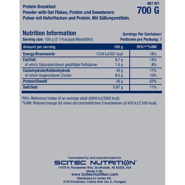 SCITEC Protein Breakfast Pulver 700g Banane