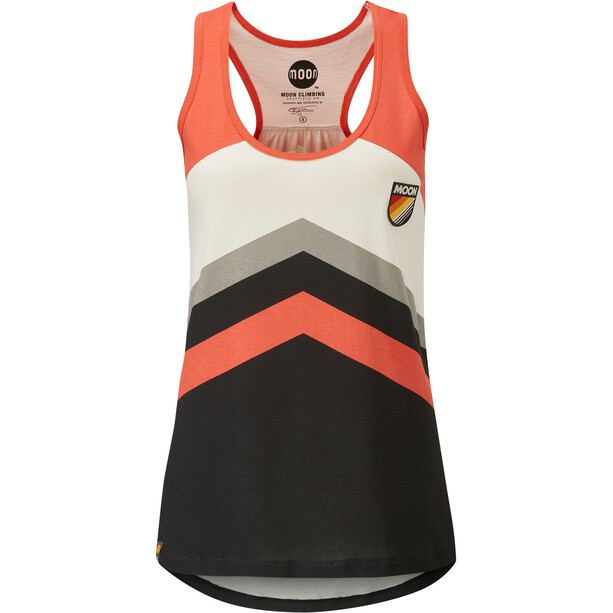 Moon Climbing Retro Stripe Vest Women colour block