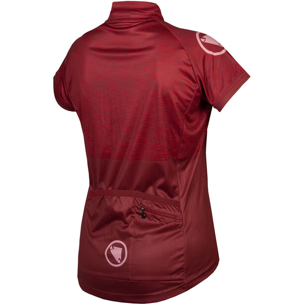 Endura Hummvee Ray II LTD Maillot Manches courtes Femme, rouge