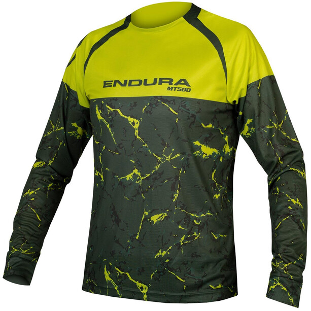 Endura MT500 Marble LTD LS Shirt Men poison green