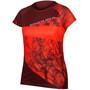 Endura SingleTrack Dots LTD Tech T-Shirt Damen hi-viz coral
