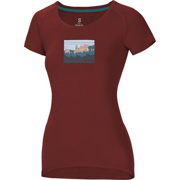 Ocun Raglan T-Shirt Damen adrspach chili oil