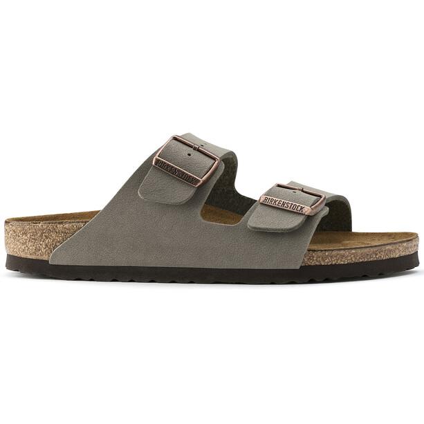Birkenstock Arizona Sandals Birko-Flor Nubuk Narrow, grijs/bruin