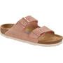 Birkenstock Arizona Soft Footbed Sandalen Wildleder Schmal Damen pink/braun