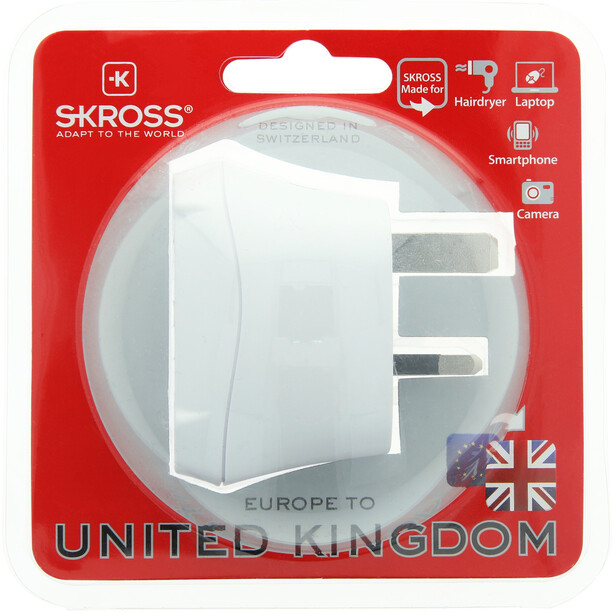 SKROSS Schutzkontakt Adapter für UK