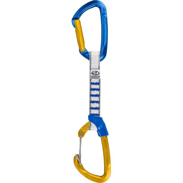 Climbing Technology Berry Quickdraws Set NY Sling 12cm/16mm blue/ocra