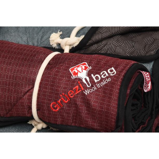 Grüezi-Bag WellhealthBlanket Wool Home Schlafsack chocolate/smoky blue
