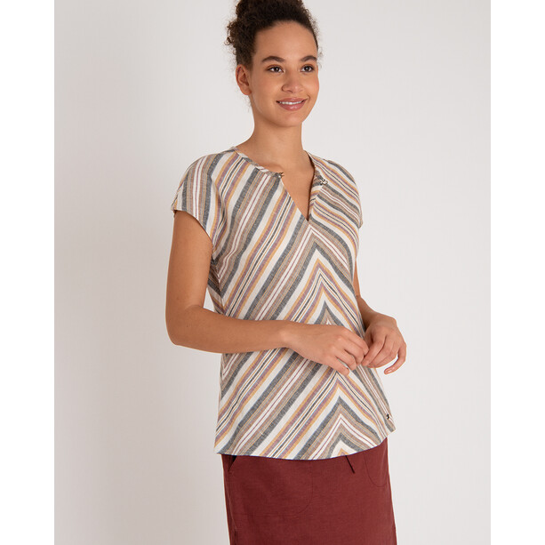 Sherpa Kiran Oberteil Damen multi stripe stripe