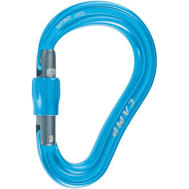 Camp Nitro Lock Carabiner blue