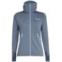 SALEWA Agner Hybrid Polarlite/Durastretch Sweat à capuche zippé Femme, gris