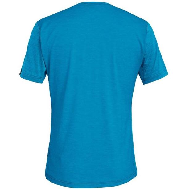 SALEWA Puez Hybrid 2 Dry Kurzarm T-Shirt Herren blue danube melange