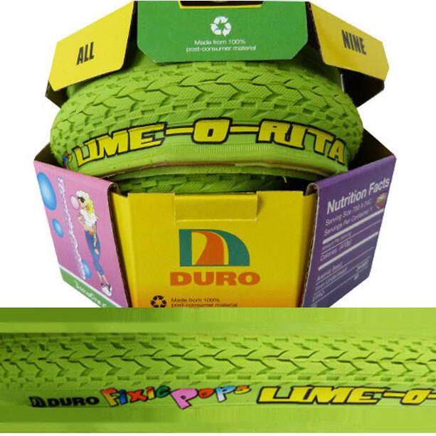 Duro Fixie Pops Folding Tyre 700x24C Lime-o-Rita, vihreä