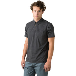 Prana Polo Herren black stripe black stripe